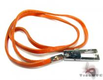 Baraka Stainless Steel & Leather Necklace LA50110 Stainless Steel