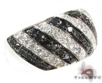 Black and White Stripe Diamond Ring Colored Diamond Rings