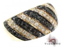 Black and White Stripe Diamond Ring カラー ダイヤモンド リング
