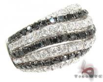 Black and White Water Wave Diamond Ring カラー ダイヤモンド リング
