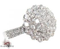 18K White Gold & Diamond Bouquet Ring Womens Diamond Rings