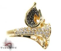Double Trumpet Diamond Ring Anniversary/Fashion