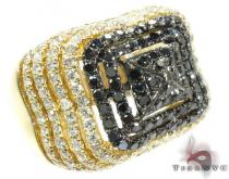 Castle Moat Diamond with Yellow Gold Ring カラー ダイヤモンド リング