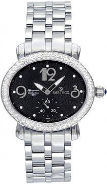 Sartego Sdbk061s Ladies Watch Diamond Black Dial Sartego
