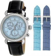 Sartego Sdbp189b Ladies Watch Diamond Strap Chronograph Blue Dial Sartego