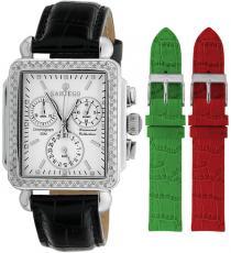 Sartego Sdmp195b Ladies Watch Diamond Strap Chronograph Mother Of Pearl Dial Sartego