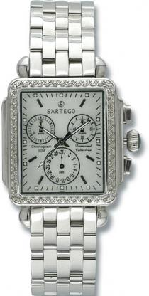 Sartego Sdmp395s Ladies Watch Diamond Chronograph Mother Of Pearl Dial Sartego