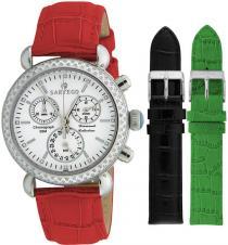 Sartego Sdwt101r Ladies Watch Diamond Strap Chronograph White Dial - Sartego