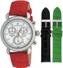 Sartego Sdwt181r Ladies Watch Diamond Strap Chronograph White Dial Sartego