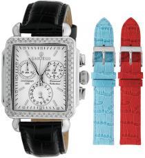 Sartego Sdwt191b Ladies Watch Diamond Strap Chronograph White Dial Sartego