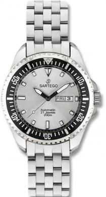 Sartego Spa25 Mens Watch Stainless Steel Automatic Silver Dial Sartego