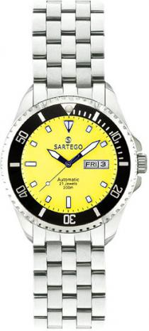 Sartego Spa77 Ladies Watch Automatic Yellow Dial - Sartego