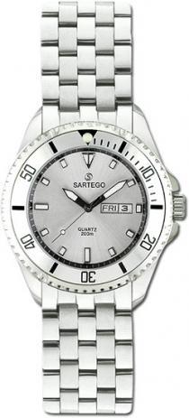 Sartego Spq85 Ladies Watch Quartz Silver Dial Dive Watch Sartego