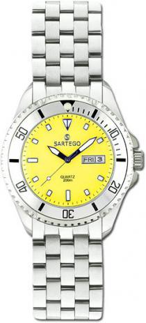Sartego Spq87 Ladies Watch Quartz Yellow Dial Dive Watch - Sartego