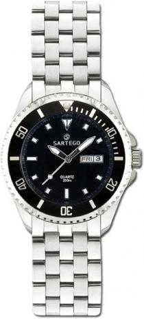 Sartego Spq91 Ladies Watch Quartz Black Dial Dive Watch Sartego