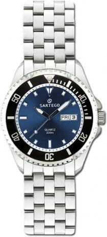 Sartego Spq93 Ladies Watch Quartz Blue Dial Dive Watch Sartego