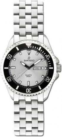 Sartego Spq95 Ladies Watch Quartz Silver Dial Dive Watch - Sartego