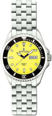 Sartego Spq97 Ladies Watch Quartz Yellow Dial Dive Watch Sartego