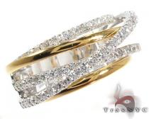 18K Two-Tone Gold Twist Diamond Ring Womens Diamond Rings