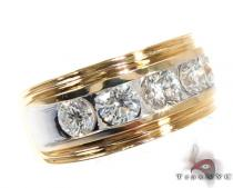 Two Tone Colossal Large Ring Mens Diamond Rings
