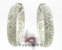 Pave Swoop Earrings ダイヤモンド フープイヤリング