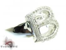 Initial B Diamond Ring Mens Diamond Rings