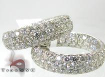 Pave Swoop Earrings 2 ダイヤモンド フープイヤリング
