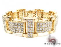 Jupiter Diamond with Yellow Gold Bracelet Mens Diamond Bracelets