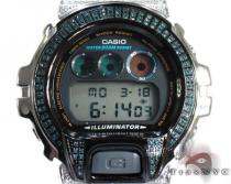 G-shock Blue and White Diamond Case with Watch DW-6900 G-Shock