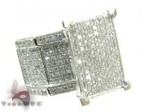 10K White Gold & Diamond Octi-Ring Womens Diamond Rings