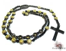 Black Stainless Steel Rosary n 24 Inches, 9mm, 91.4 Grams ステンレススティールチェーン