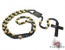 Black Stainless Steel Rosary Chain 24 Inches, 8mm, 86.7 Grams ステンレススティールチェーン