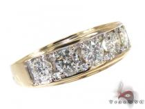 Mens Prong Diamond with Yellow Gold Ring Mens Diamond Rings