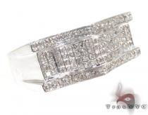 Grant Silver with White Color Diamond Ring Metal