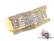 Grant Yellow Silver with White Color Diamond Ring Metal