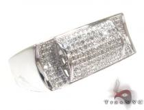 Sawyer Silver with White Color Diamond Ring Metal