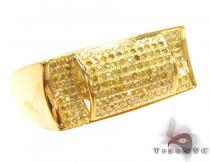 Sawyer Yellow Silver with Canary Color Diamond Ring Metal