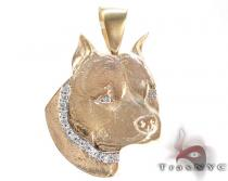 Dog Yellow Gold Diamond Pendant ダイヤモンド ペンダント