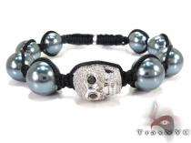 Skull Silver Diamond Bracelet Rope Bracelets