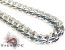 Miami Cuban White Silver Chain 32 Inches, 10mm, 174 Grams Silver Chains