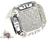 Mantle Silver Diamond Ring Metal
