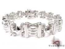 Invincible Man Silver Diamond Bracelet Sterling Silver Bracelets