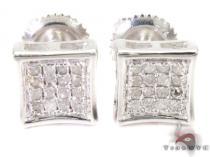 Prong Diamond Earrings 26973 シルバーイヤリング
