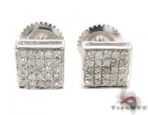 5 Row Square Diamond Earrings 26977 Mens Diamond Earrings