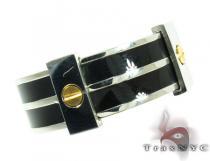 Mens Affordable Zebra Bolt Stainless Steel Ring Metal