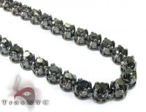 Black Diamond Chain 30 Inches, 5mm, 76.5 Grams Diamond