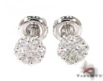 Cluster Diamond Stud Earrings 27061 Mens Diamond Earrings
