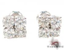 Prong Diamond Stud Earrings 27078 Mens Stud Earrings