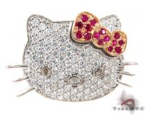Hello Kitty Ruby Diamond Pendant Diamond Pendants