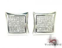 Curved Square Diamond Earrings 27125